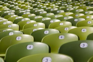 Green chairs in a training venue (SEL Group Ltd)