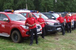 Fire Safety trucks at V Festival (SEL Group Ltd)