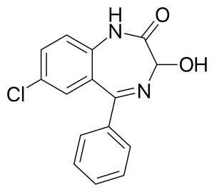 Oxazepam Skeletal Formula