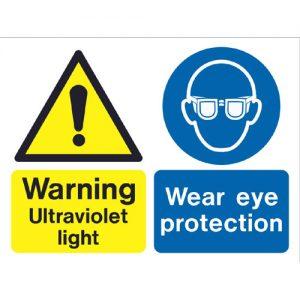 UV Radiation Warning Sign