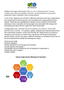 Megatrends & Applications ISO 14001:2015 Support - Stafford